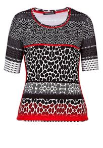 T-shirt with striped graded animal print