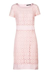 Short sleeve floral lace dress