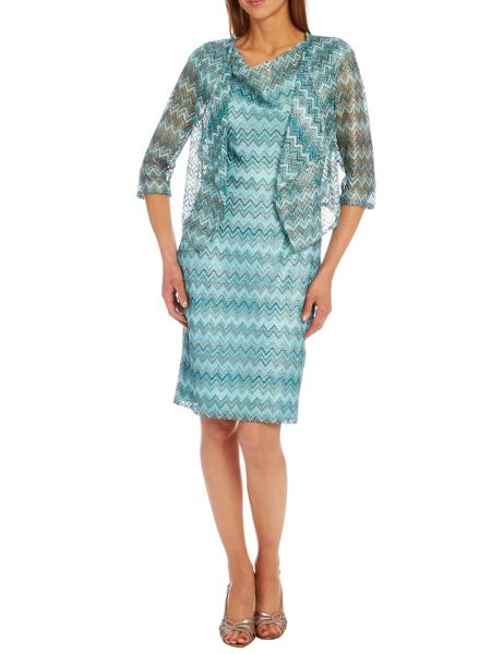 Vera Mont Printed sleeveless dress with cowl neck