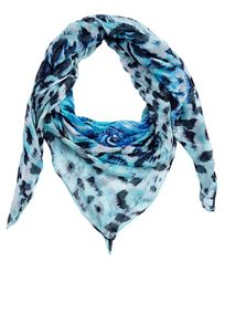 Square floral and animal print scarf