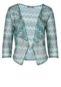 Printed short waterfall front jacket