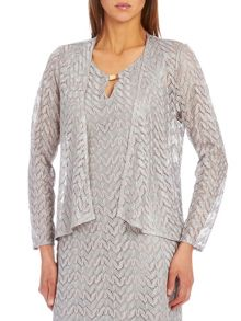Vera Mont Crochet jacket with waterfall front