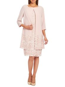 Crepe embroidered coat