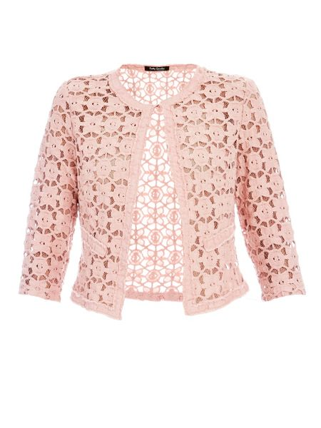 Betty Barclay Soft floral lace jacket with fringe edge