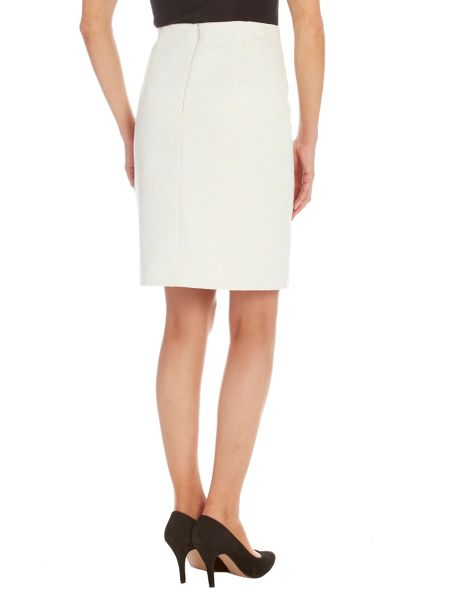 Vera Mont Jacquard straight fitted skirt