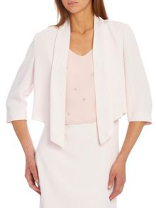 Crêpe jacket with waterfall front