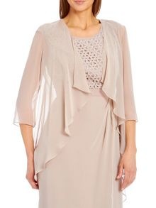 Chiffon jacket with waterfall front