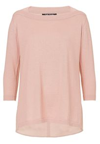 Betty Barclay Oversized knit and crêpe top