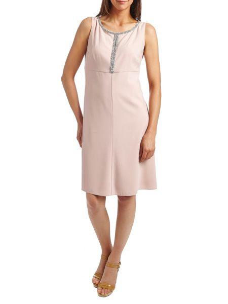 Vera Mont A-line sleeveless crepe dress