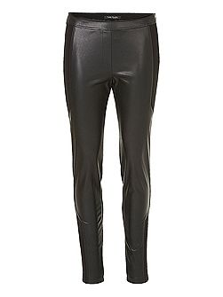 Betty & Co. Pleather and jersey trousers