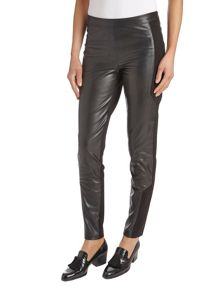 Pleather and jersey trousers