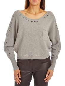 Short batwing jumper