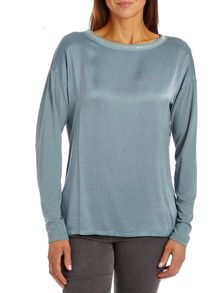 Betty Barclay Satin front long sleeved top