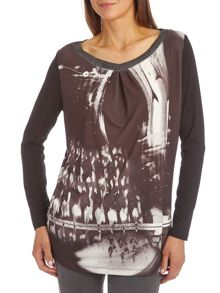 Graphic print tunic top
