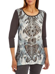 Graphic print long top