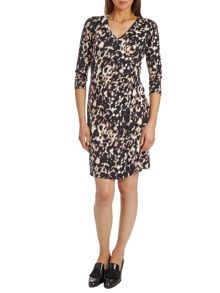 Betty Barclay Wrap effect print jersey dress