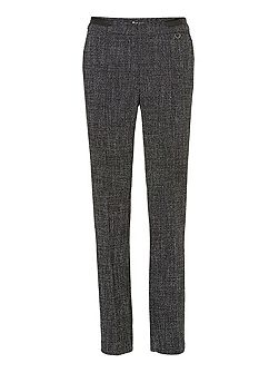 Straight leg woven trousers