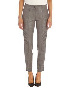 Stretch snake print trousers