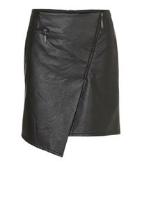 Betty Barclay Pleather skirt with asymmetric hem