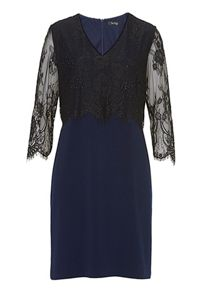 Vera Mont Lace and jersey dress