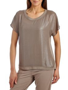 Betty & Co. Short sleeved layered top