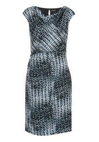 Vera Mont Cowl neck stretch printed dress