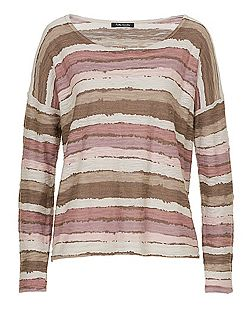Betty & Co. Textured striped jumper