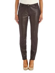 Textured pleather trousers