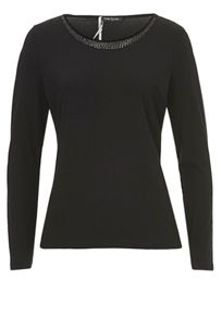 T-shirt with bead embellishment