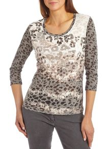 Printed top with sequin embellishment