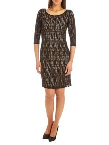 Vera Mont Lace dress with contrasting lining