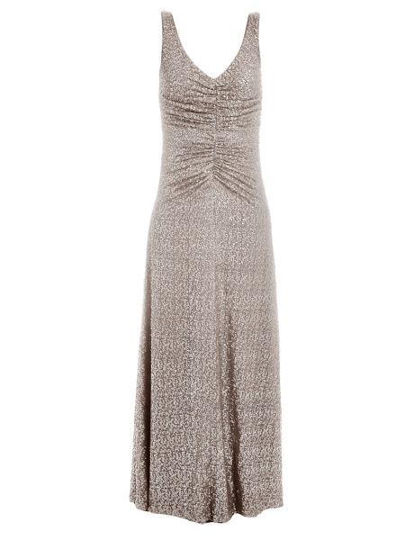 Vera Mont Long sequinned evening dress