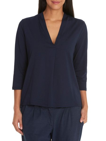 Betty & Co. V-neck back layered top