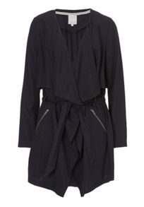 Unlined waterfall coat