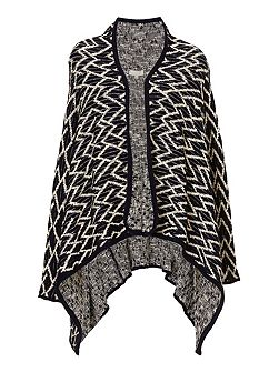 Graphic knit cardigan