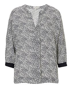 Printed oversized top