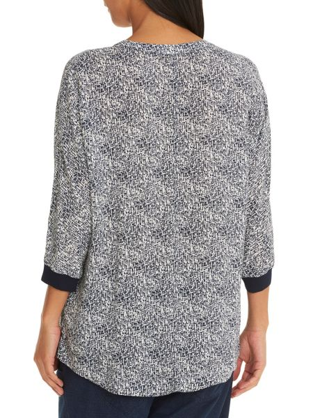 Betty & Co. Printed oversized top