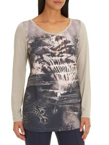 Betty Barclay Long printed top