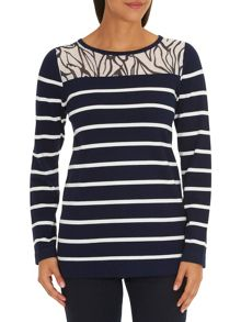 Betty Barclay Graphic striped jumper