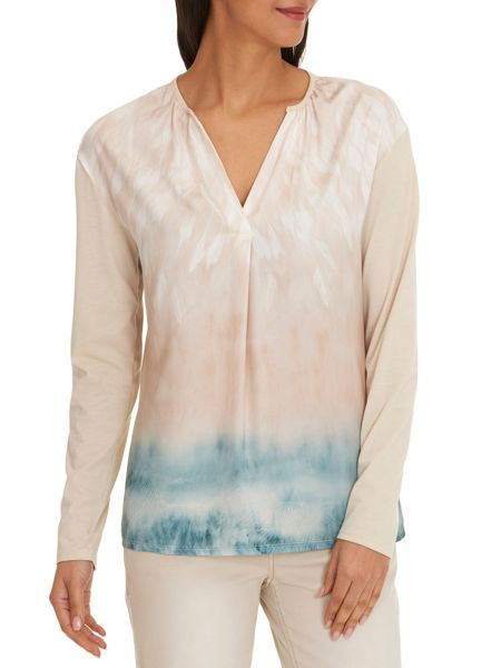 Betty & Co. Long Sleeved Printed Top