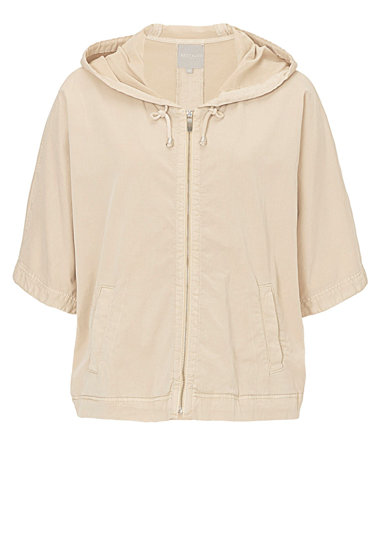 Betty & Co. Batwing Hooded Jacket, White