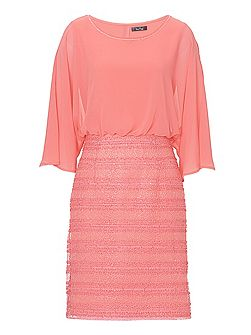 Chiffon and mesh dress