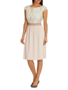 Betty Barclay Floral cut out dress
