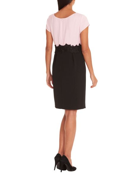Vera Mont Two tone dress with lace waistband