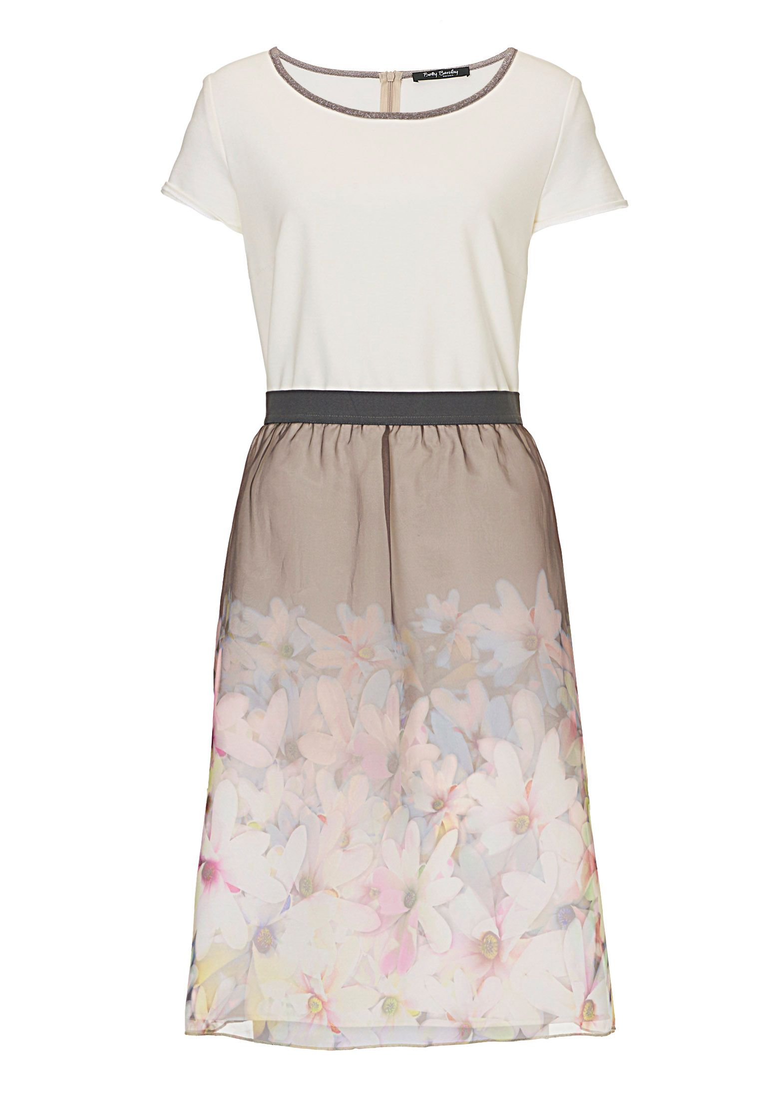 Betty Barclay Dress with floral layered skirt, Multi-Coloured