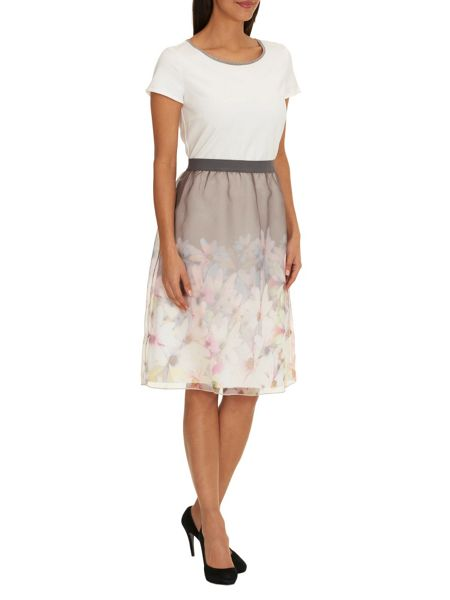 Betty Barclay Dress with floral layered skirt