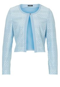 Vera Mont Long sleeved lace panelled jacket