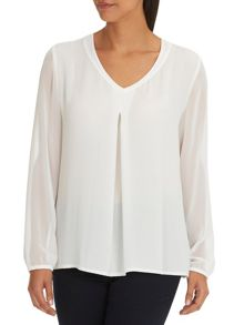 Betty Barclay Crepe and chiffon top