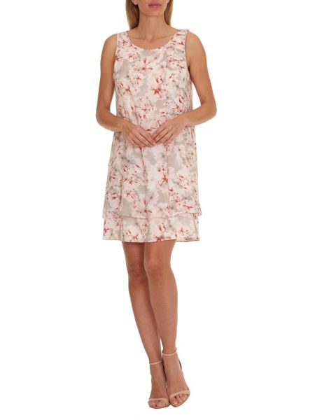 Vera Mont Printed dress with layered hem