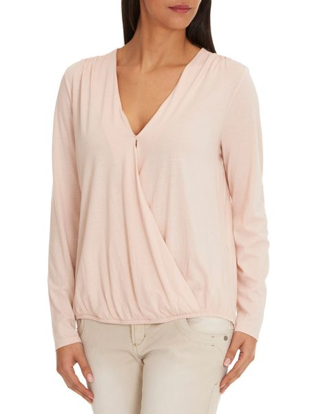 Betty & Co. Wrapped V-Neck Top